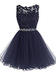 Kleid hellblau strass
